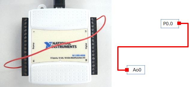 アナログ出力でデジタル入力を操作