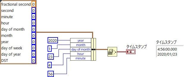 日付/時間を秒に変換