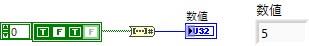 ブール配列を数値に変換