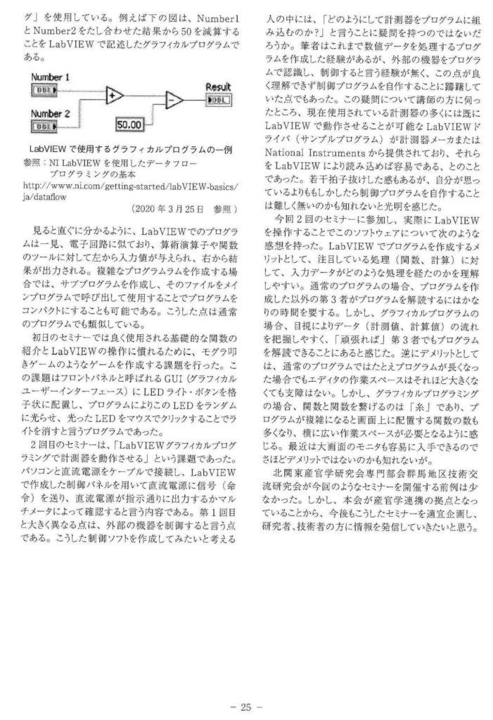 北関東産官学研究会 HiKaLo技術情報誌73号 P25